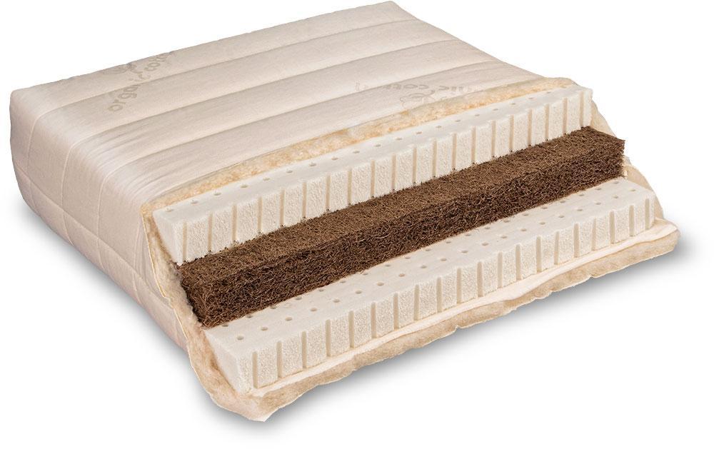 Baumberger Naturlatex Matratze Varia Lana Sandwich Detailsansicht